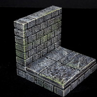 Small OpenForge 2.0 Cut Stone Wall 3D Printing 78309