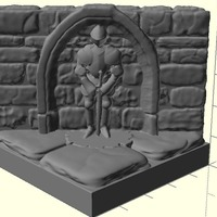 Small OpenForge Diagonal Knight Wall 3D Printing 78318