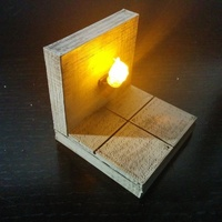 Small OpenForge Smooth Torch Wall 3D Printing 78391