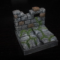 Small OpenForge Ruined Wall Tile 3D Printing 78437