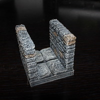 Small OpenForge Stone Dungeon Corridor 3D Printing 78519