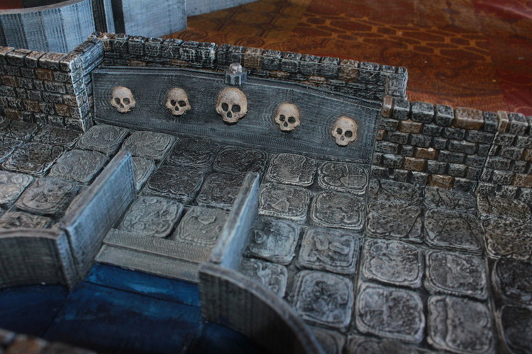photograph regarding 3d Printable Dungeon Tiles identify 3D Posted OpenForge Lower Wall Pool Tiles via Devon Jones
