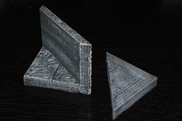 OpenForge Smooth Edge Diagonal Tile 3D Print 78549