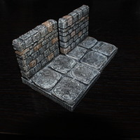 Small OpenForge Stone Dungeon Edge Walls 3D Printing 78567