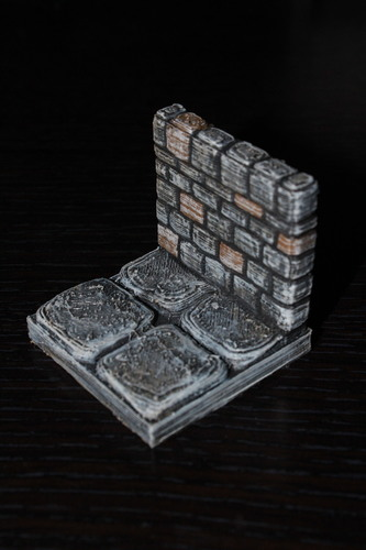 image relating to 3d Printable Dungeon Tiles named OpenForge Stone Dungeon Partitions