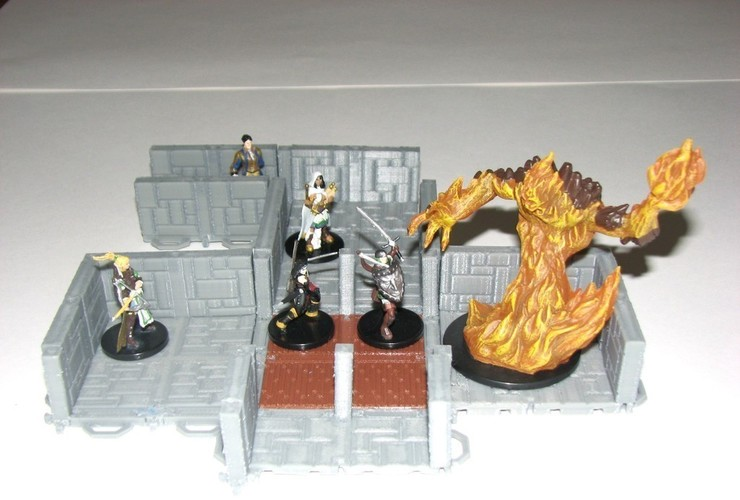 Customizable Dungeon Terrain 3D Print 78592