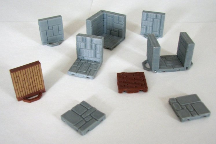 Customizable Dungeon Terrain 3D Print 78595