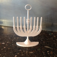 Small Menorah Holiday Tree Ornament 3D Printing 78828