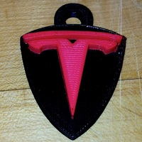 Small Tesla Motors Key Fob  3D Printing 78833