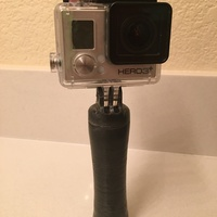 Small GoPro handle+secret storage. 3D Printing 78897
