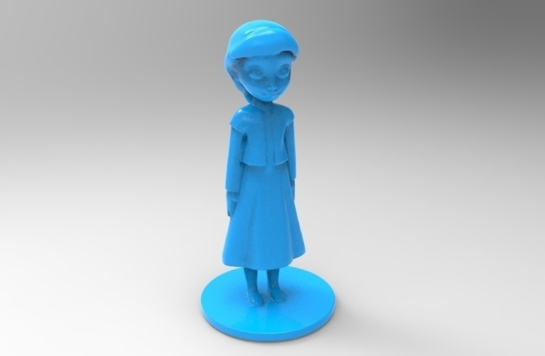 young elsa from frozen 3D Print 79094