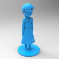 Small young elsa from frozen 3D Printing 79094
