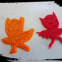 Small PJ MASKS cookie / clay cutter - Owlette | Gekko | Catboy 3D Printing 79105