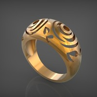 Small Rings Flowers STL 3D Printing 79113