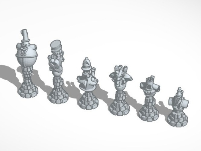 Steampunk Robot Chess 3D Print 794
