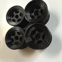 Small Tamiya F104 Rims for Rubber tires, and rims for 3d printed tires 3D Printing 79403