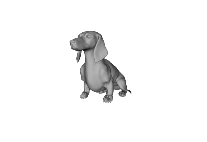 Wiener Dog Sit! 3D Print 79417