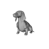 Small Wiener Dog Sit! 3D Printing 79417