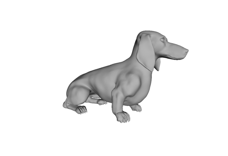 Wiener Dog Sit! 3D Print 79418