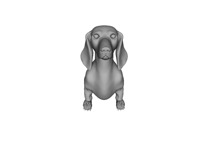Wiener Dog Sit! 3D Print 79419