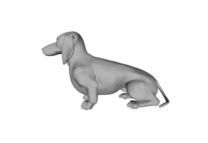 Wiener Dog Sit! 3D Print 79420