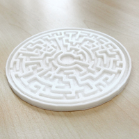 Small Maze Coaster 3D Printing 79425