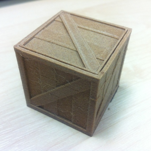 Wooden Crate with lid 3D Print 79435