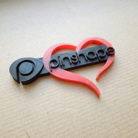Small Pinshape loves you! in dual color 3D Printing 79464