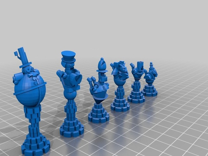 Steampunk Robot Chess 3D Print 795