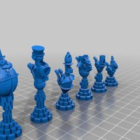 Small Steampunk Robot Chess 3D Printing 795
