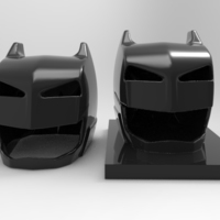 Small batman vs superman helmet 3D Printing 79556