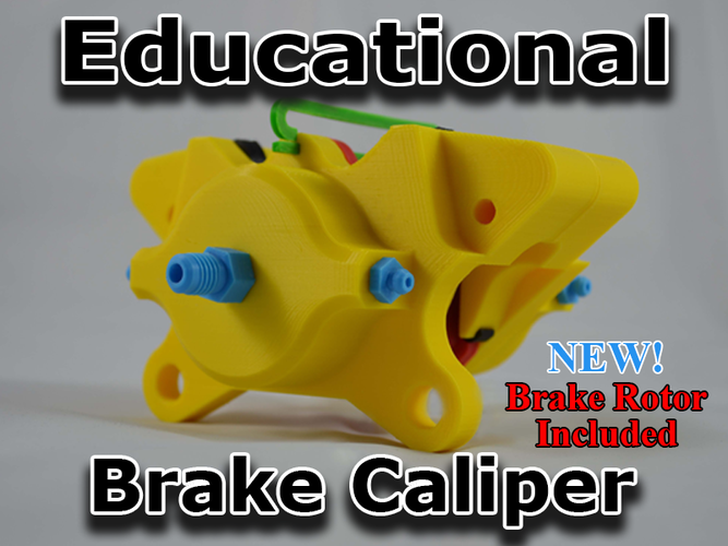 Educational Brake Caliper 3D Print 79623