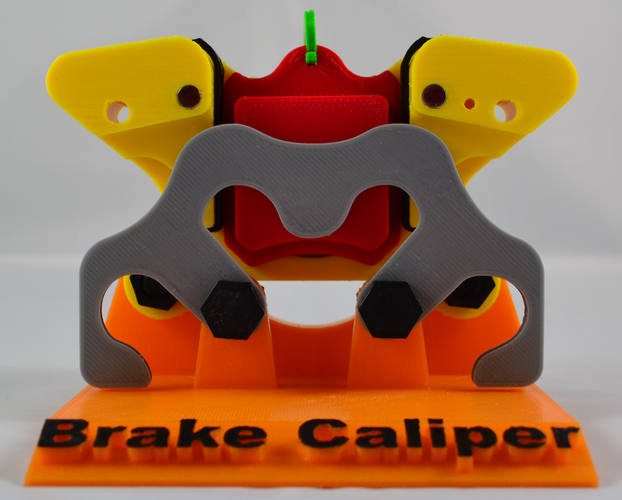 Educational Brake Caliper 3D Print 79624