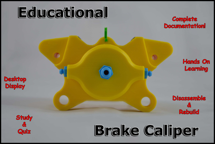 Educational Brake Caliper 3D Print 79626