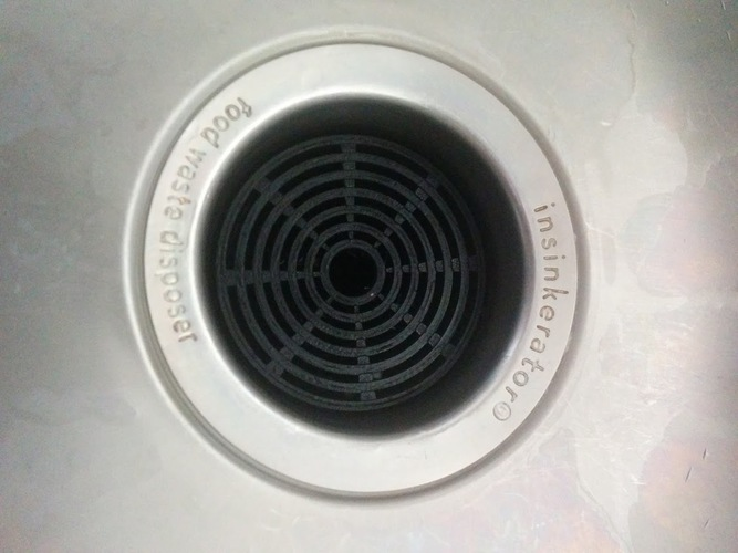 Sink Strainer / InSinkErator Food Waste Disposer Cover Grid 3D Print 79632