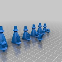 Small Headsman's Chess 3D Printing 797