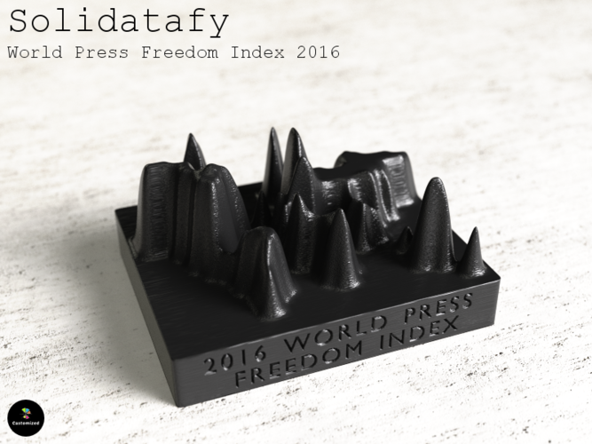Solidatafy – World Press Freedom Index 2016 3D Print 79709