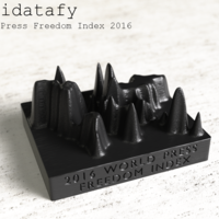 Small Solidatafy – World Press Freedom Index 2016 3D Printing 79709