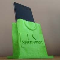 Small Shopping Bag Phone Stand 3D Printing 79891