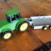 Small John Deere Tractor and Trailer 3D Printing 79938
