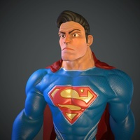 Small Stylized Superman 3D Printing 79955