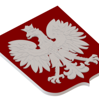 Small The coat of arms of Poland 3D Printing 80013