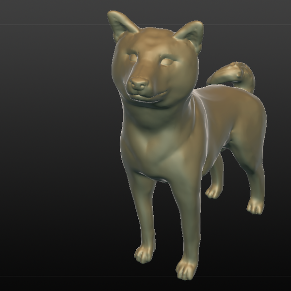 Medium Happy Shibe 3D Printing 80058