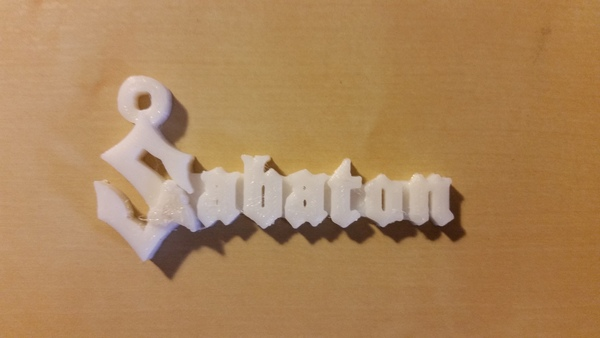 Medium Sabaton - Key Chain 3D Printing 80070