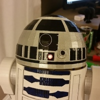 Small R2D2 - Non Electronic Version 3D Printing 80083