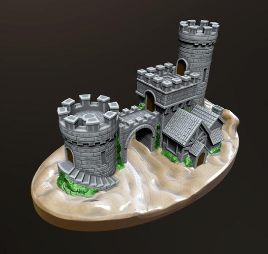 3d Printed Castle Gate 2 By Kijai Pinshape