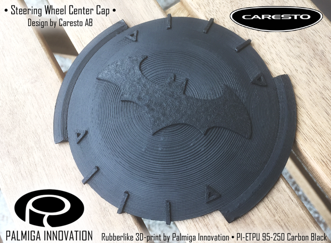 Palmiga Caresto Arkham Car steering wheel cap - Keychain token 3D Print 80345