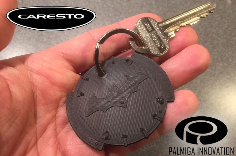 Palmiga Caresto Arkham Car steering wheel cap - Keychain token 3D Print 80401
