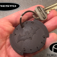 Small Palmiga Caresto Arkham Car steering wheel cap - Keychain token 3D Printing 80401