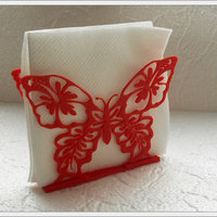 "Small Stand for napkins ""butterfly"" 3D Printing 80565"